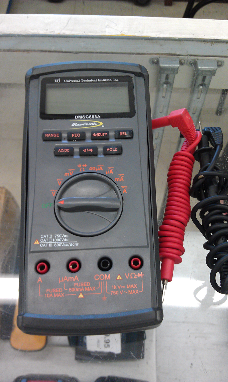 BLUE-POINT SNAP-ON DMSC683 DIGITAL HANDHELD MULTIMETER