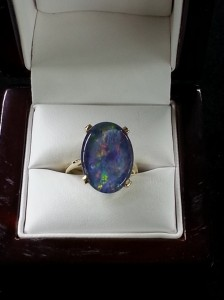 black opal ring Mooresville Jewelry