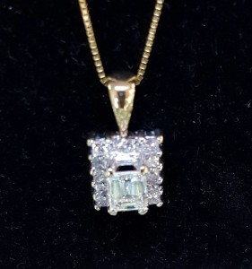 Emerald Cut Diamond Pendant Mooresville Jewelry