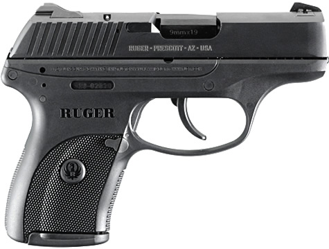 Ruger LC9 7+1 9mm Bl 3 dot Adj Sts